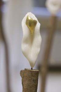 'Eleusis flamouse' albast met goudblad 275,-