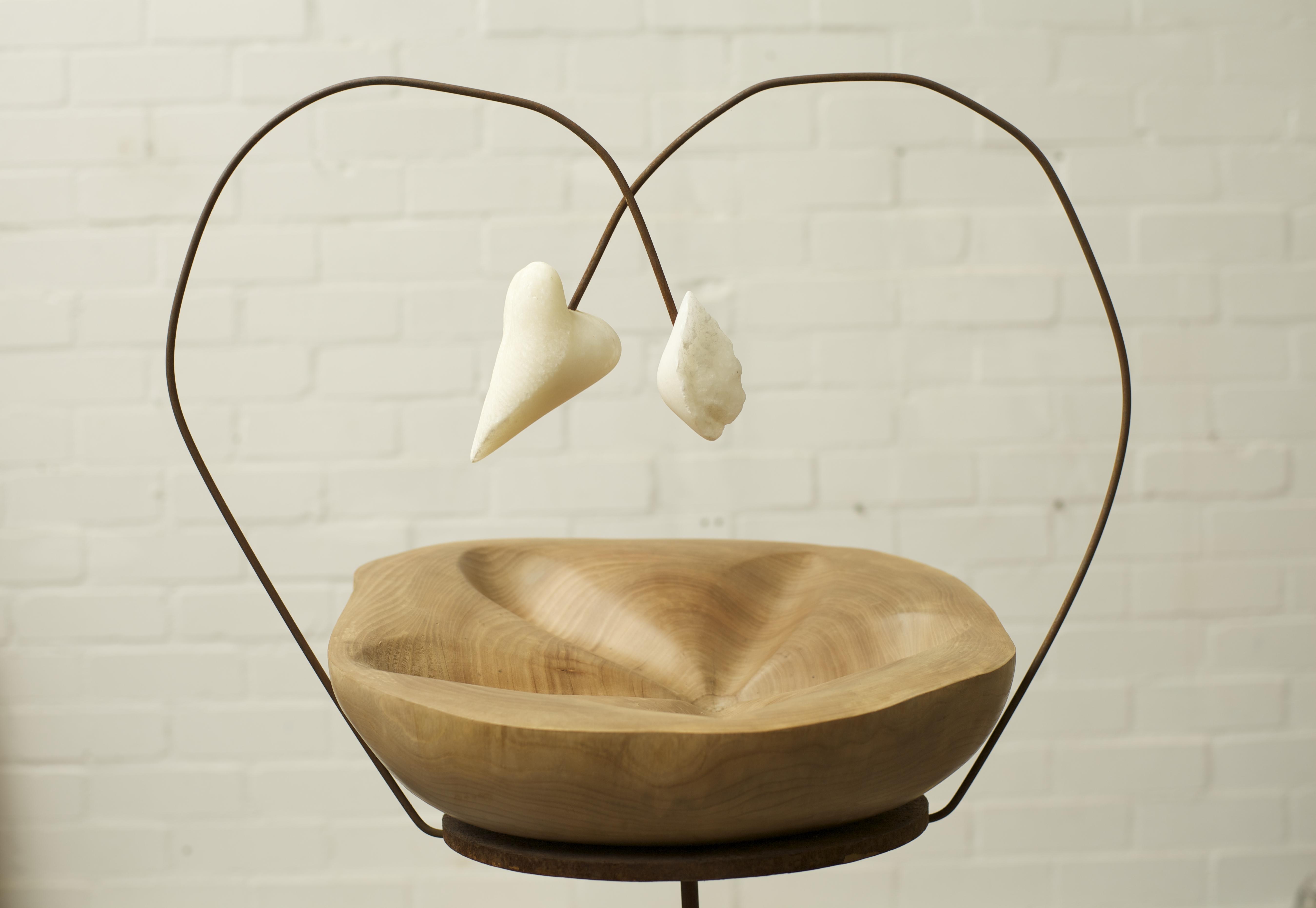 Xerxa wood steel sculpture