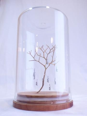 Bart Ensing little tree wood sculpture